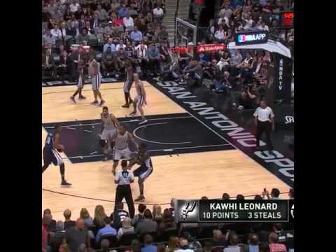 Kawhi Leonard's getting Lance Stephenson frustrated Game 1 Memphis Grizzlies vs San Antonio Spurs