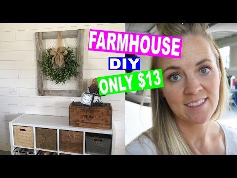 DIY: HOW TO MAKE FARMHOUSE DECOR FOR CHEAP! $13