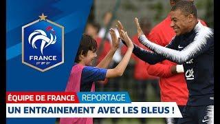 Equipe de France : 25 jeunes à l'entraînement avec les Bleus I FFF 2018