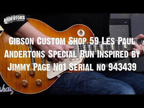 Top Shelf Guitars - Gibson CS 59 LP Special Run Inspired by Jimmy Page No1 Serial no 943439