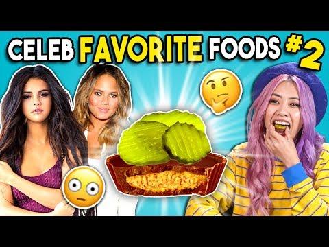 Trying Celebrity Favorite Foods | People Vs. Food