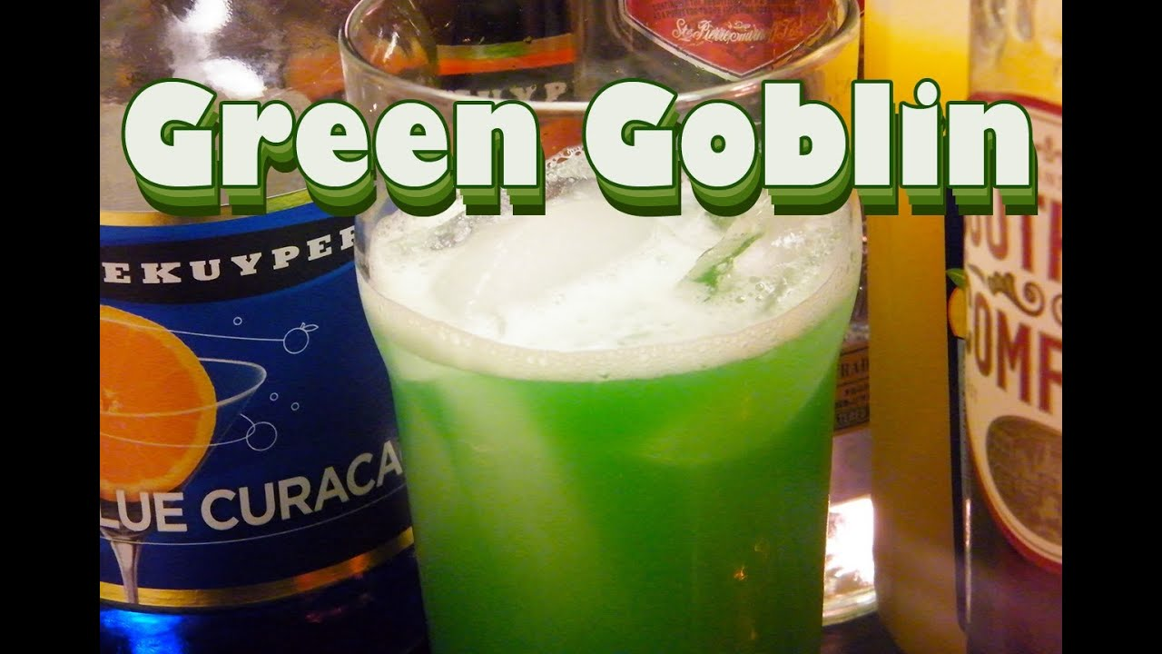 Green goblin drink recipe st patrick 39 s day drinks for Green alcoholic drinks recipes