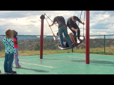 HOGGING THE PLAYGROUND FROM KIDS!!