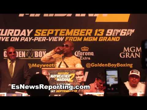 mayweather to maidana you were touching my dick in fight more then my woman - EsNews