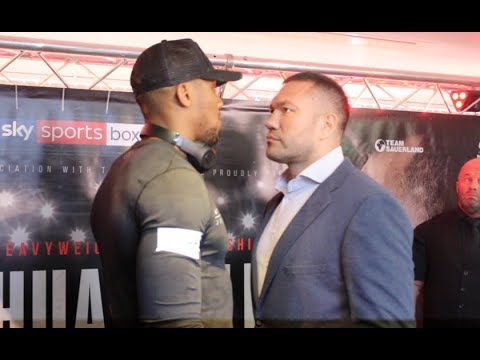 NO FEAR? - ANTHONY JOSHUA v KUBRAT PULEV - HEAD TO HEAD @ PRESS CONFERENCE (CARDIFF) / JOHSUA-PULEV