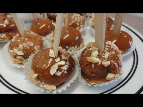 Taffy Apple (Caramel Apple) cupcake pops