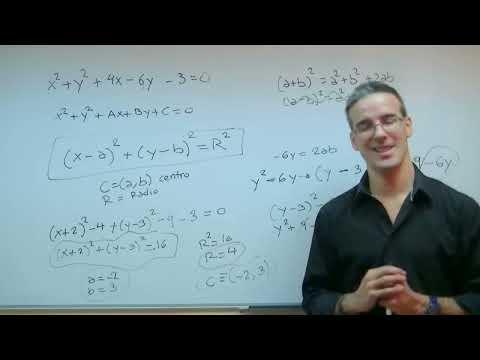 Circunferencia 02 4ºESO unicoos matematicas ecuacion conicas completar cuadrados