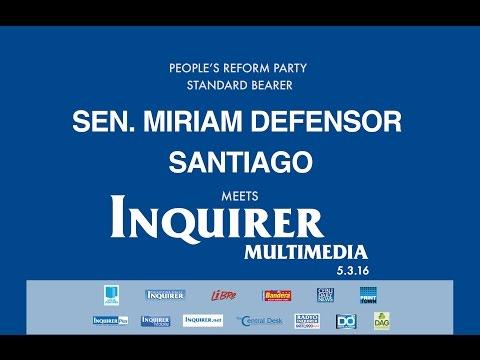 Miriam Defensor-Santiago meets Inquirer Multimedia
