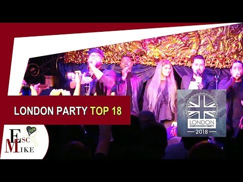 London Eurovision Party 2018 - My Top 18