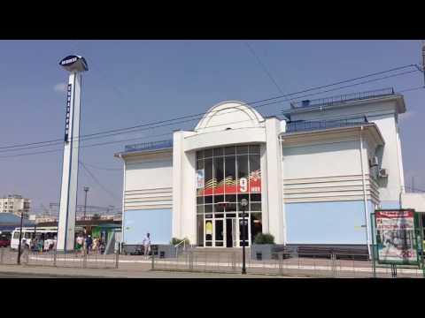 Евпатория - Автовокзал города Евпатории в Крыму. Крым 2016 отдых много народу