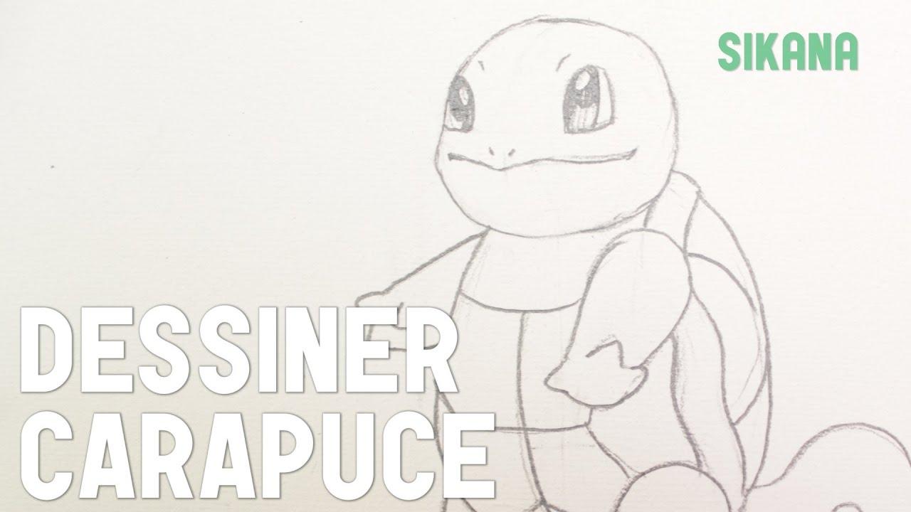 Dessin dessiner carapuce de pok mon hd youtube - Dessiner pokemon ...