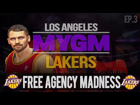 NBA 2K15 My GM Mode Ep.3 - Los Angeles Lakers | FREE AGENCY MADNESS | PS4