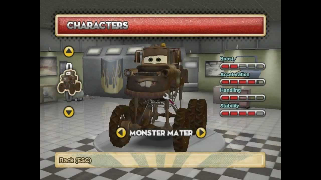 Cars Mater National Wii Monster Truck Parts