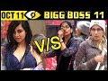 Sapna Choudhary & Mehjabi Vs Arshi Khan | MAJOR FIGHT | Bigg Boss 11 October 11th 2017 | Day 10