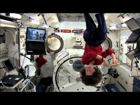 Weightless Astronaut Pushes Herself With a Single Hair | NASA ISS Space Science HD