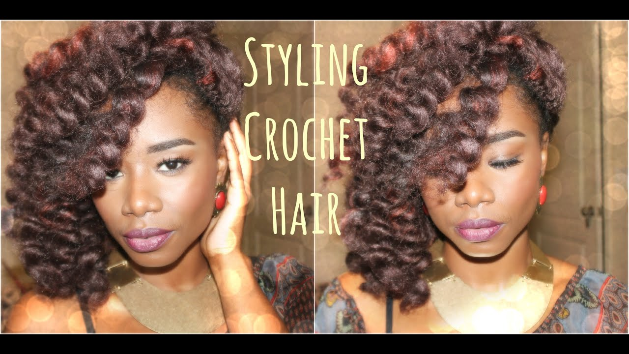 Styling Crochet Hair (Perm Rods) & *Final Thoughts* - YouTube