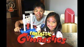 Fantastic Gymnastics Pink Lipstick Challenge Surprise Eggs | Toys Academy
