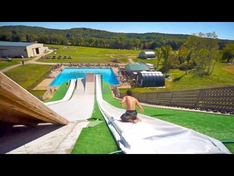 Epic Slip 'n Slide Pool Party!! video