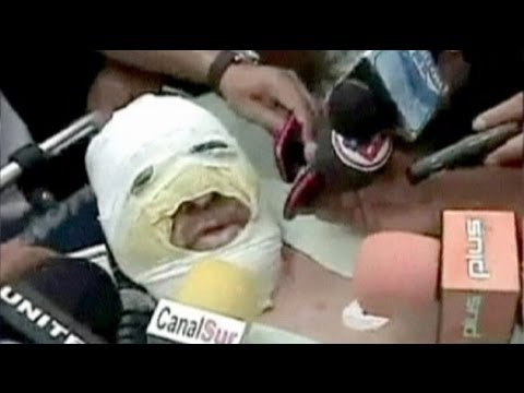 image vid�o احراق مذيع بوليفي على الهواء