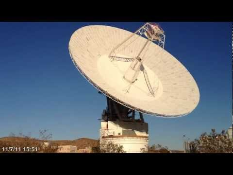 Goldstone Radar Antenna shuts down for the night