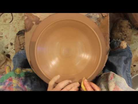 Finishing-How to Make a Pottery Pedestal Bowl - Part Seven