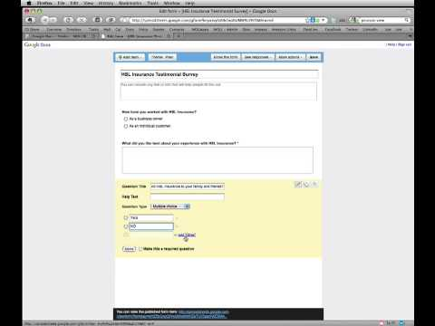 Google Form Tutorial