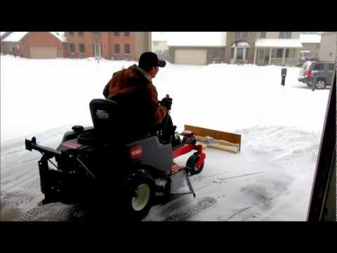 Snow Plow for Zero turn Mower (Homemade Project)