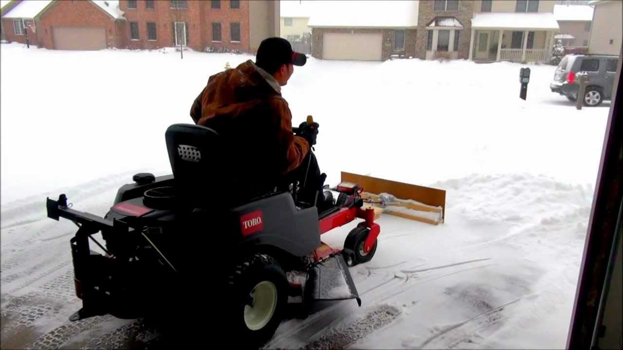 Snow Plow For Zero Turn Mower Homemade Project Youtube