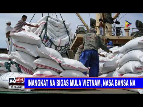 inangkat na bigas mula Vietnam, nasa bansa na thumbnail