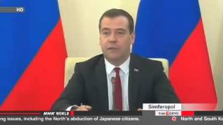 Medvedev in Crimea to cement Russian presence