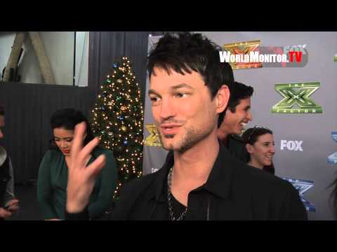 Jeff Gutt on his Son and Kelly Rowland at 'The X Factor' Season 3 Finale Day 1