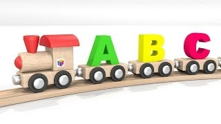 ABC song nursery rhyme: learn letters with toy alphabet train! Educational 3d cartoon for children