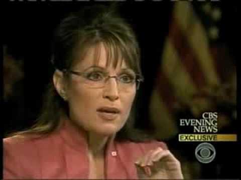 Sarah Palin CBS interview with Katie Couric (WORST INTERVIEW YET)