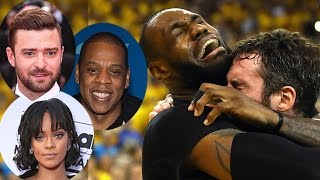 Celebs React To Lebron James Crying After Cleveland Cavs WIN The NBA Finals