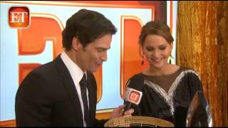 Jennifer Lawrence and Josh Hutcherson interview with ET Online | People's Choice Awards 2013