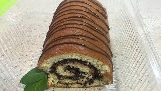 Диетический маковый рулет. Низкоуглеводный рулет.  Dietary biscuit roll with poppy seeds.