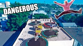 ROOFTOP TRAMPOLINE PARK (HOMEMADE)