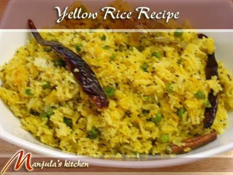Fried Yellow Rice by Manjula, Indian Recipes