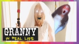 GRANNY Horror Game IN REAL LIFE! with SLENDRINA