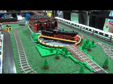 LEGO train and slot car crashes - Kaleen 2012