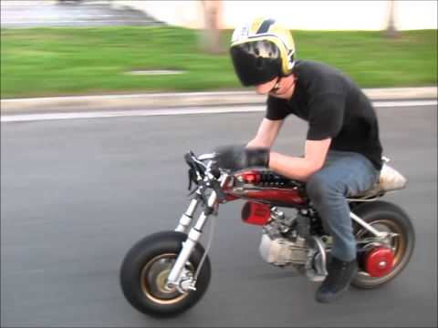 Z50 Honda gy6 drag bike first ride ruckus killer