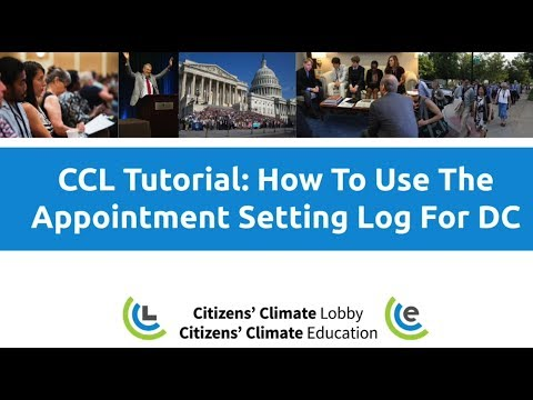 CCL Tutorial: How To Use The Appointment Setting Log For DC