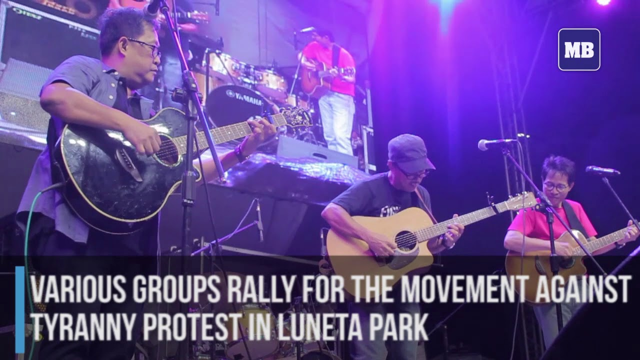 Various groups gather in anti-tyranny rally at Luneta Park