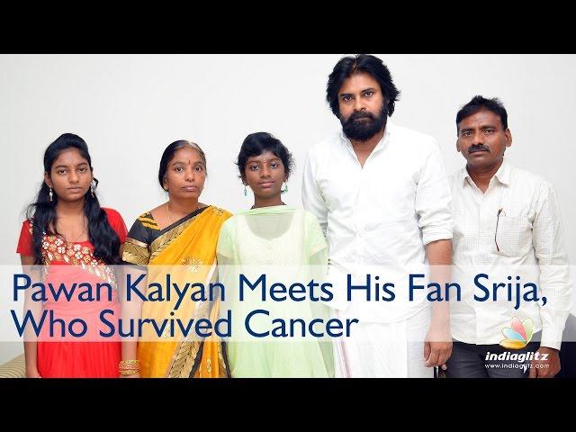Pawan Kalyan Meets His Fan Srija, Who Survived Cancer