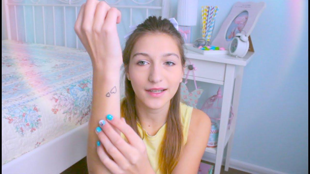 Моя первая татуировка в 15 лет ♡ - YouTube