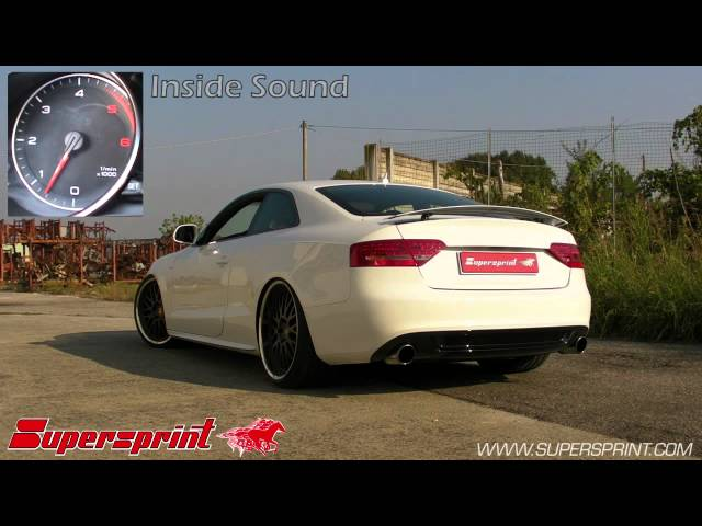 Audi A5 3 0 TDI full Supersprint exhaust - YouTube
