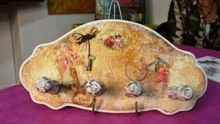 Cómo decorar un perchero con decoupage integrado