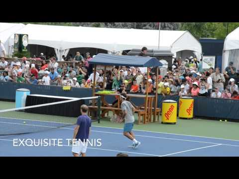 Roger Federer Practices with Grigor Dimitrov 2014 Toronto