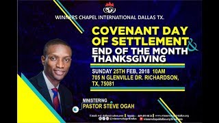 Covenant Day of Settlement-Every Commandment of Scripture is for Our Profiting Pt.4-Pst. Steve Ogah