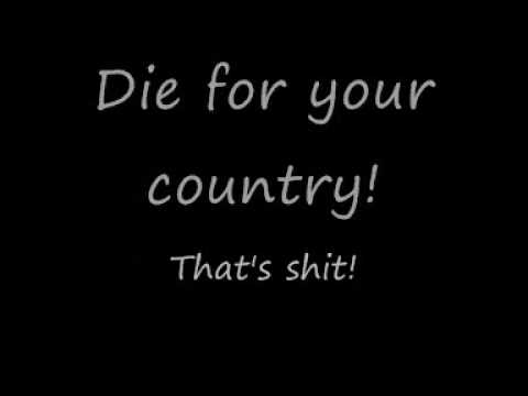 Anti-Flag: You've Got To Die For Your Government (With Lyrics) Music Videos